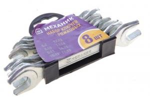 Набор рожковых ключей Механик 6-19мм 27015-Н8 (8шт)