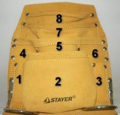 Сумка поясная  для инструмента Stayer 38505