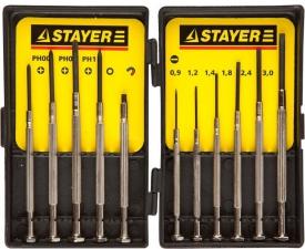 Набор отверток 11шт. часовые Stayer 2560-H11