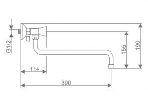 Смеситель для ванны Swes Magna M6CES5