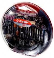 """Набор мини-насадок ЗУБР для гравера, 35900-H180, серия """"Мастер"""", 180 предметов, пластиковый бокс"""