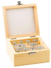 Набор мини-кругов ЗУБР с алмазным напылением на шпильке, 33385-H10