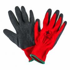 Перчатки красные с черной ладошкой (стрейч)