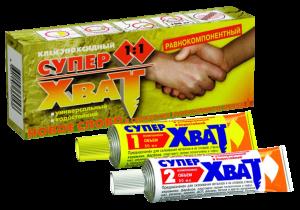 "Клей ""Супер-Хват"" эпоксидный равнокомпонентный 2х45мл"