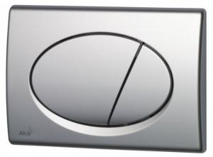 Кнопка управления для инсталяции хром матовая М-72
