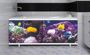 Экран для ванны 1,7м Подводный мир
