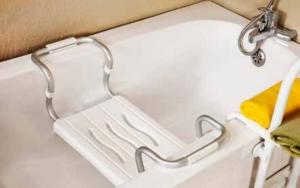 Сиденье для ванной (PRIMA NOVA) с металлической ручкой
