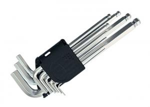 Ключи имбусовые 9шт с шар. Matrix 1,5-10мм 11233