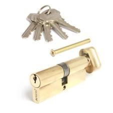 Цилиндровый механизм Апекс SC-80-ZCG золото англ.ключ с вертушкой