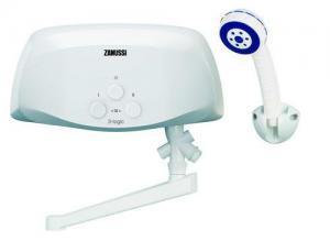 Электрический проточный водонагреватель 5 кВт Zanussi 3-logic TS (5,5 kW) - душ+кран