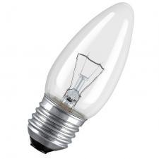Лампа свеча прозрачная Е27 40/60Вт