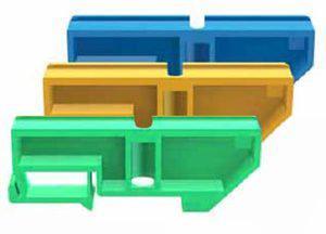 Изолятор на DIN-рейку TDM зеленый