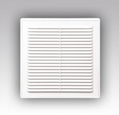 Решетки вентиляц. вытяжные разъемные с сеткой (серия P)