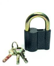 Замок навесной ВС-2-27 КА (3 ключа) Аллюр (односекр)