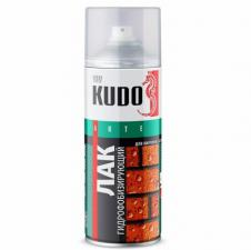 Лак гидрофобизирующий аэрозоль KUDO 520мл для кирпица, бетона, камня.