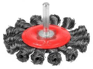 Щетка для дрели усиленная 75мм плоская со шпилькой Stayer 35115-075