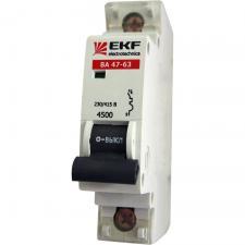Автоматы (автоматический выключатель) EKF 1Р  10-63A