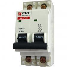 Автоматы (автоматический выключатель) EKF 2Р  16-63A