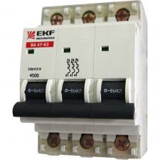 Автоматы (автоматический выключатель) EKF 3Р  16-63A