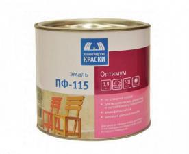 """Эмаль ПФ-115 """"Оптимум"""" цветная 1,9кг"""