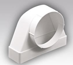 Соединители 90° прямоугольного воздуховода с круглым СК ФП