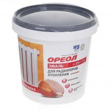 Эмаль для радиаторов Ореол акриловая белая 1,1 кг