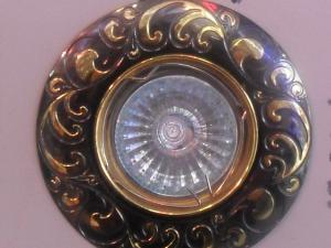 Софит Feron DL2005 MR16 черный металл/золото