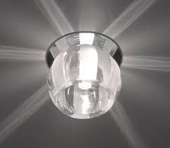 Точечный светильник, софит Feron JD114 G9 прозр. матовый-хром