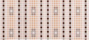 """Панель ПВХ Декокам 0,956х0,48м Мозаика """"Орнамент коричневый"""""""