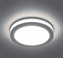 Светильник встраиваемый светодиодный 7W, 4000К, белый  с подсветкой AL600