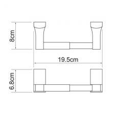 Держатель для туалетной бумаги Leine К-5022