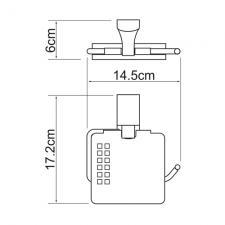 Держатель для туалетной бумаги Leine К-5025 c крышкой