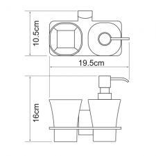 Держатель стакана и дозатора Leine К-5089