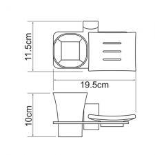 Держатель стакана и мыльницы Leine К-5026