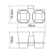 Подстаканник двойной Leine К-5028D