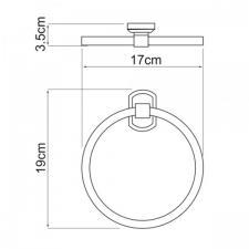 Держатель полотенец кольцо Oder К-3060