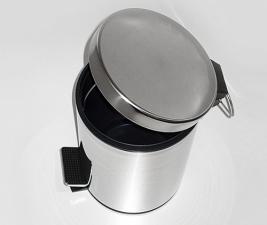 Ведро для мусора К-633 3л. нерж.