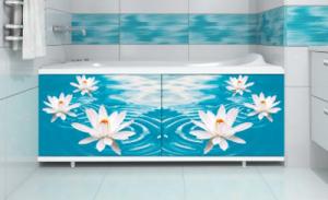 Экран под ванну 1,5м Водная лилия