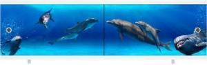 Экран под ванну 1,5м Дельфины