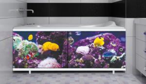Экран для ванны 1,5м Подводный мир