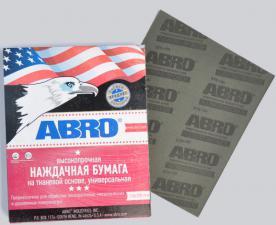 Наждачная бумага ABRO универсальная тканевой основе P-60/12 STS 60/120 (лист 28х23см)