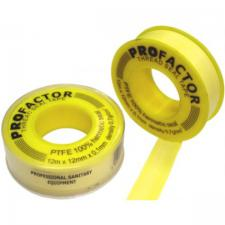 Фум лента PF 12м х 12мм х 0,1мм желтая