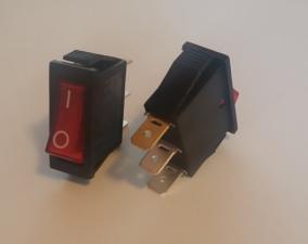 Переключатель сетевой 14мм 3pin 15Ф/250V (красный)