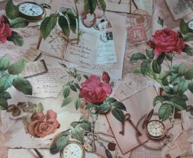 "Клеенка на стол ""Dekorama""  Красная роза 1,4м пог.м."