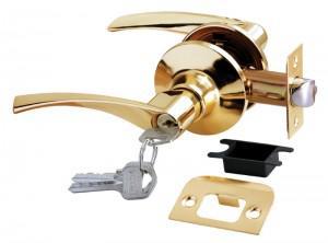 Ручка-замок HK-02 L PG золото ключ Апекс Rucetti