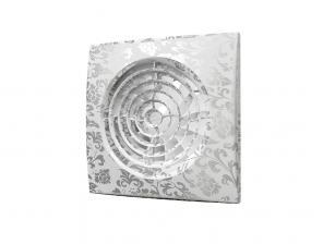 Вентилятор AURA 4C white design D100 обратный клапан