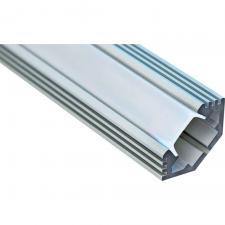 CAB272 Профиль для LED ленты угловой с фаской серебро 2метра