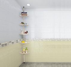 Полка в ванную 5 секций 1,4-2,4м