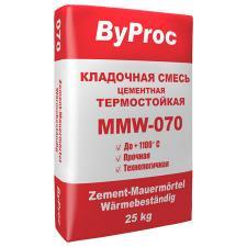 Кладочный состав ByProc MMW-070 25кг для печей и каминов