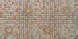 """Панель ПВХ Декокам 0,956х0,48м Мозаика """"Медальон коричневый"""""""